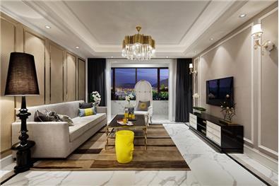 金域王府现代新古典风格样板房设计
