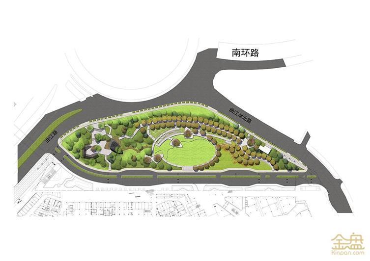 曲江大道街心花园