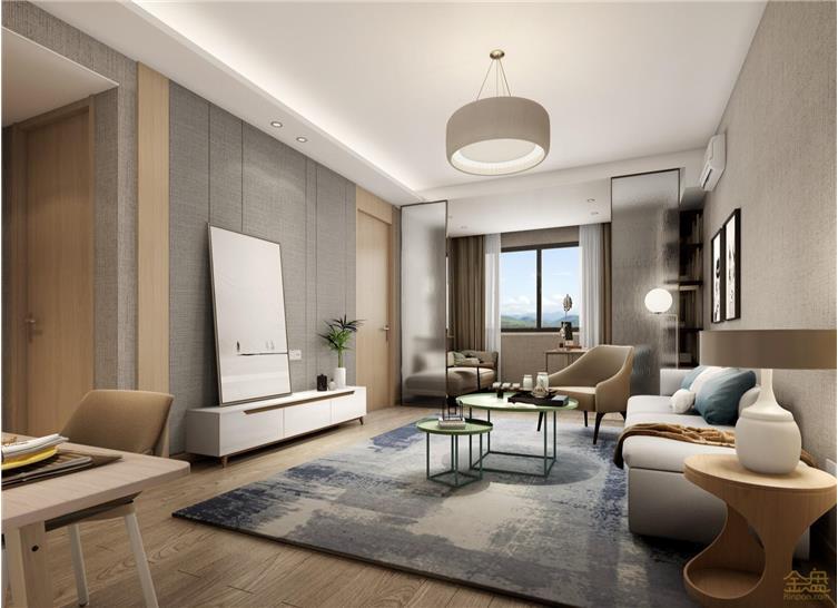G5 西安旭辉浐灞项目3号楼批量精装A户型客厅rev-3 _Jc.jpg