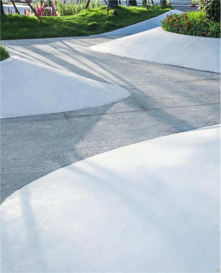 白色水磨石