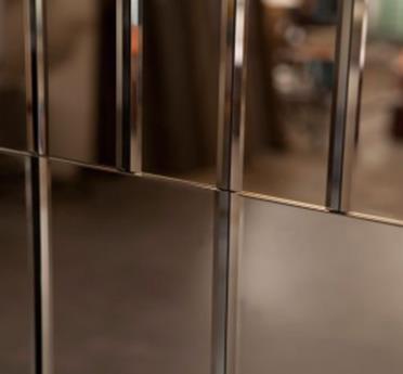 工艺玻璃、灰茶镜墙身