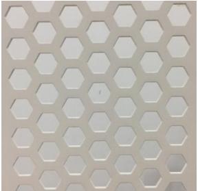 白色正六边形穿孔铝板