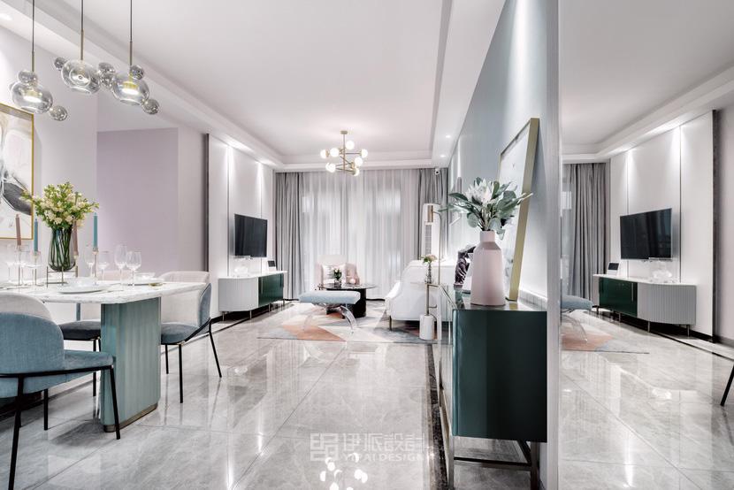 伊派设计丨样板房设计丨95㎡演绎花漾年华INS风格样板房