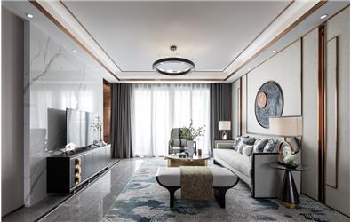 伊派設計丨新中式樣板房丨徜徉在東方禪意的美學中