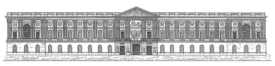 卢浮宫东立面的典型古典主义 三段式.jpg