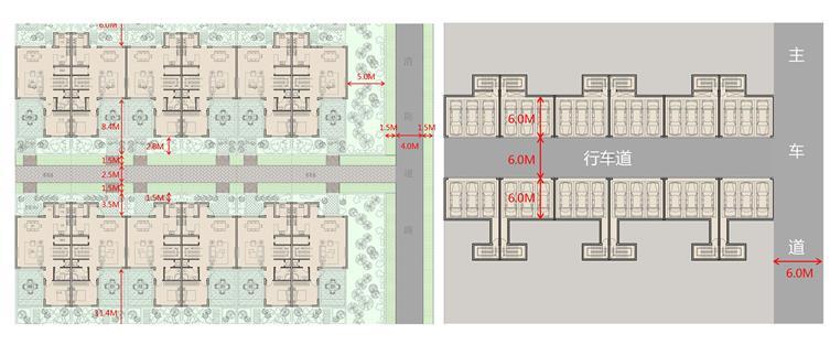 2期别墅地上组合平面(左图)与2期别墅车库平面(右图).jpg