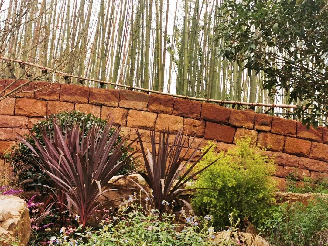 艺术景墙 本地红砂岩