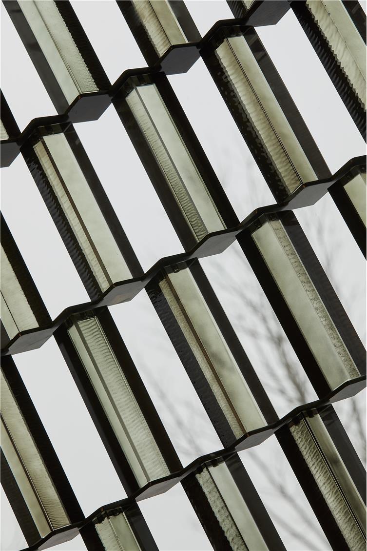 定制浅咖色玻璃砖