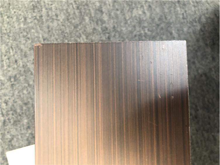 仿紫铜拉丝铝板