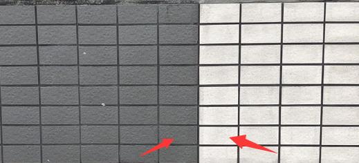 米白色面砖和浅灰色面砖