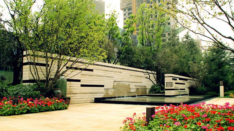 西安万科金域华府示范区景观设计