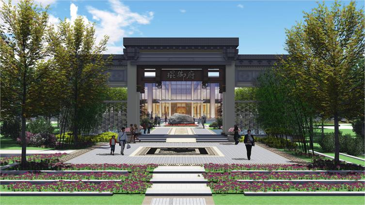 北京京投琨御府售楼处景观设计