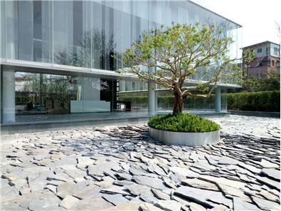 丹霞奇石--保利广钢新城 锈石板岩