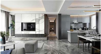 中南·盐城熙悦样板房-大理石瓷砖